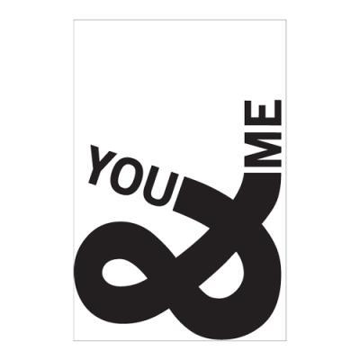 왈가닥스 타이포그래피 포스트카드 엽서 - you n me