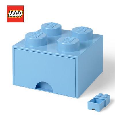 레고 블럭 서랍형 정리함 4구 1736_ 하늘색 스카이