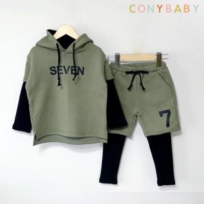 [CONY]세븐기모후드 상하복세트(카키)