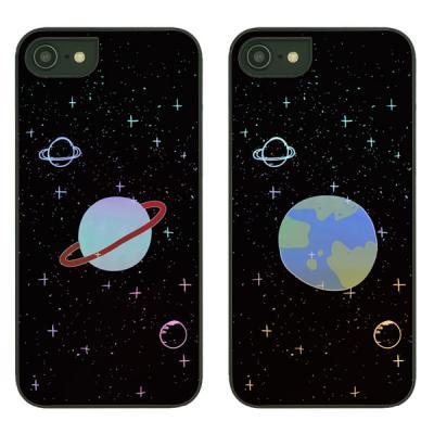 아이폰7플러스케이스 우주낙서 샤이닝케이스