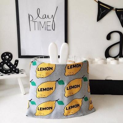 레몬 니트 담요 블랑캣 90x110cm