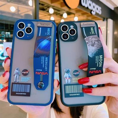 아이폰se2 xr xs max 8 7+ 우주 반투명 스트랩 케이스