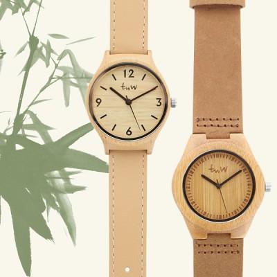[타임위드우드] 대나무 손목시계 커플시계