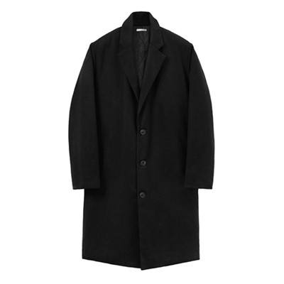 Oversize Wool Padding Coat_Black