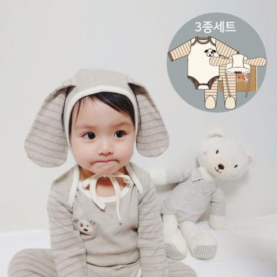 [CONY][CONY]오가닉 두두3종세트(출산/백일선물3종세트)