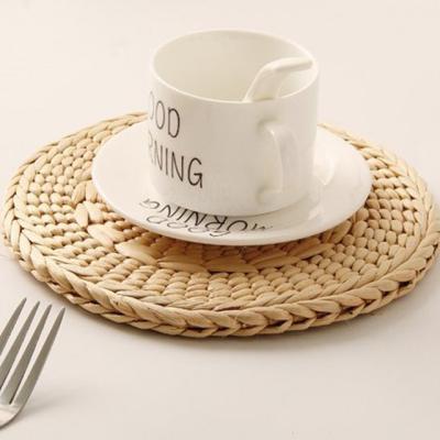 원형 짜임 그릇 접시 식탁 테이블 매트(소형)