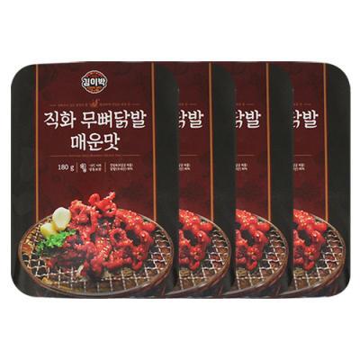 [김이박] 직화 무뼈닭발 매운맛 180g x 4set