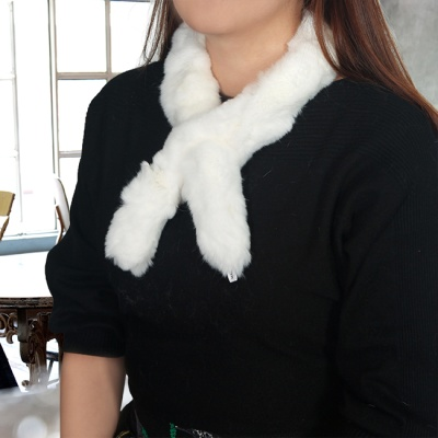 토끼털 목도리(화이트) (여성용)