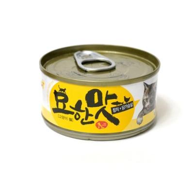 묘한맛 고양이 캔 80g (참치 닭가슴살)