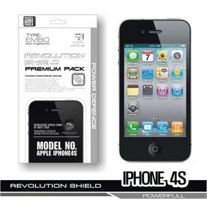 [프로텍트엠/PROTECTM] 아이폰4S/iPhone4S 레볼루션쉴드 엠보팩 지문방지 전신보호필름+액정보호필름