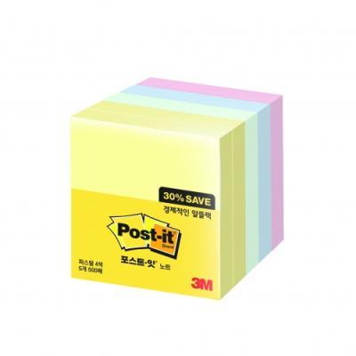 포스트잇 654-5A 알뜰팩 (3M)299602