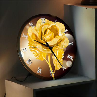 ng286-LED시계액자35R_풍수재물복이들어오는황금장미
