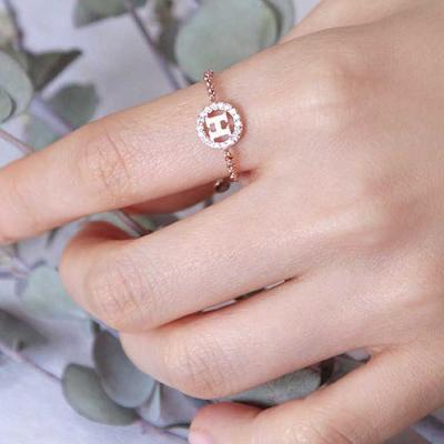 Mujer bonita Rings 잉그리드 로즈골드 체인 반지