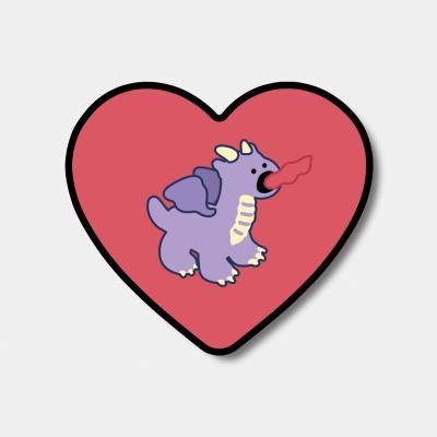 [하트톡♥] purple line baby dragon
