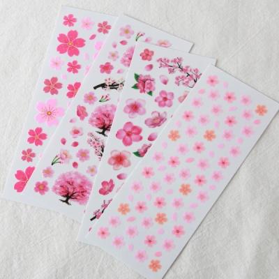 스티커펀 벚꽃 펄 스티커(st130)