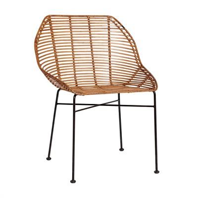 [Hubsch]Dining chair w/4 legs, nature 116004 디자인체어