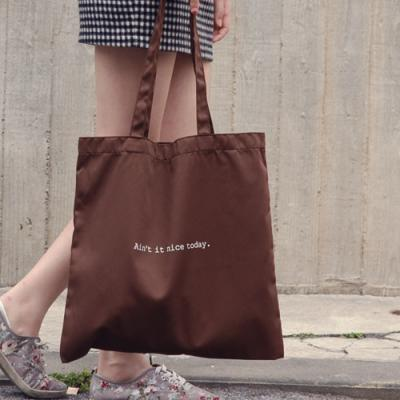 [버빌리안] BASIC ECO BAG (CHOCO BROWN)
