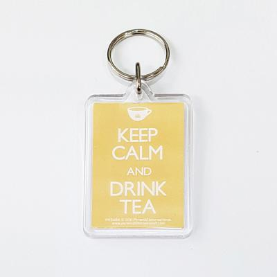 PK5484 아크릴 키링 KEEP CALM AND DRINK TEA
