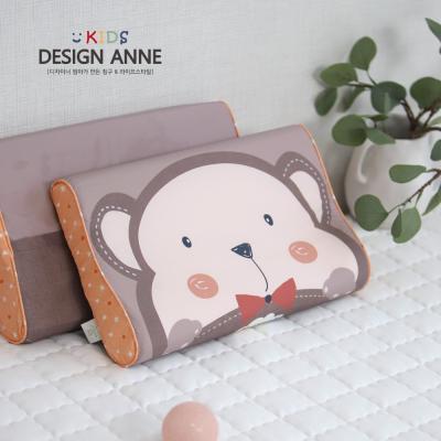 [디자인엔] 알러지케어 원숭이 아동메모리폼베개