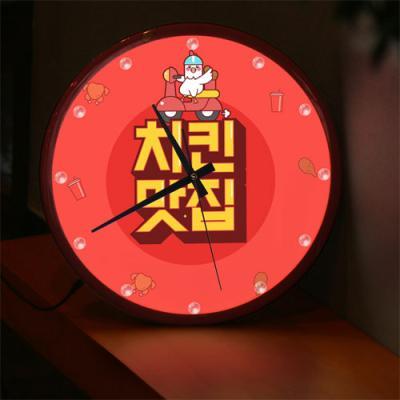 ng574-LED시계액자35R_치킨맛집
