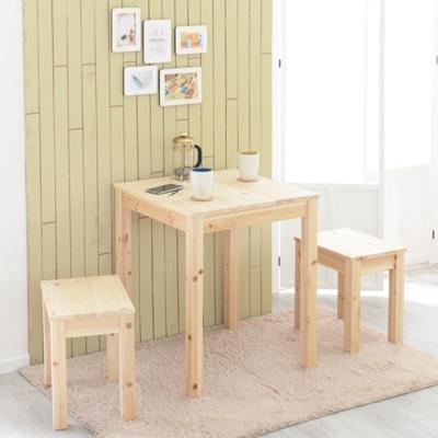 원목 2인 식탁 테이블 600×600(삼나무,아카시아)