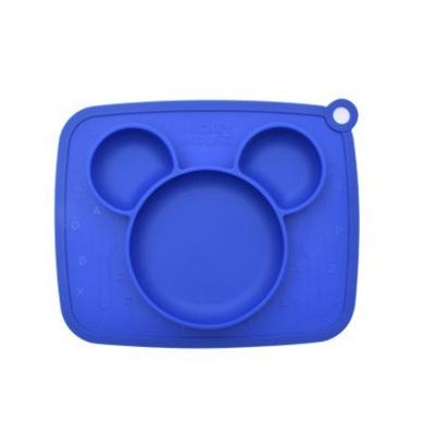 미키 흘림방지 실리콘식판 블루5047