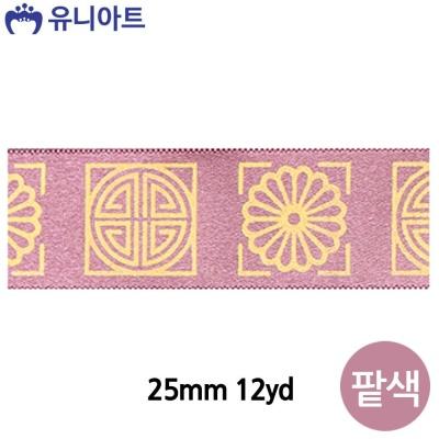 전통문양 금박리본 A (25mm) (12yd) (팥색)