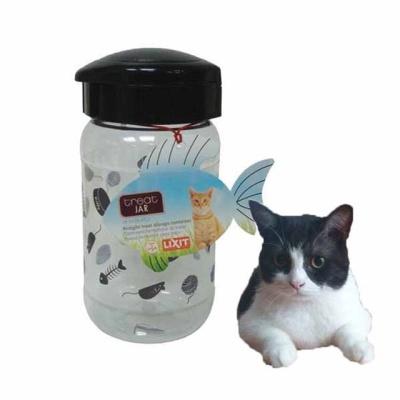 고양이 사료 간식 보관 투명 용기(473ml)