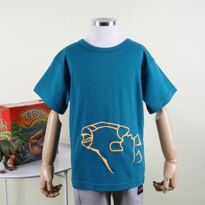 [다이노솔즈] 공룡 전신 그래픽 어린이 반소매 순면 티셔츠 GR