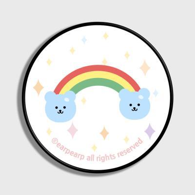 Rainbow bear-white(스마트톡)