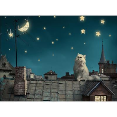 지붕 위 고양이[1000피스/목재/직소퍼즐/WPK10-305]