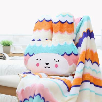 편안한 토끼인형쿠션 따뜻한 양면극세사 대형무릎담요
