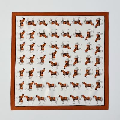 Silk Mini Horse Square Petit Scarf