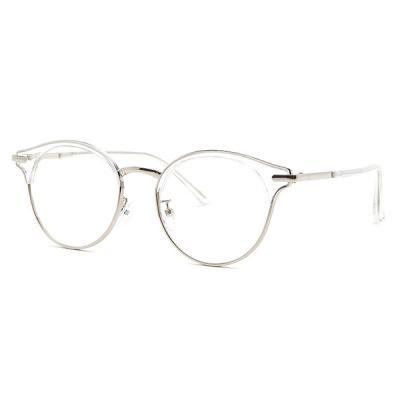 shine 투명 슬림 반뿔테 안경 뿔테 패션안경 안경테