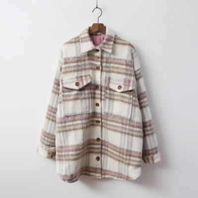 Wool Check Shirts Jumper - 누빔안감