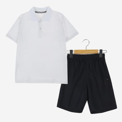 [교복아울렛] 화이트 카라 하복 체육복 세트