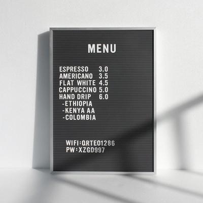 A3 블랙 레터보드 DIY 세트 - 골드,실버Frame(알파벳284개포함)