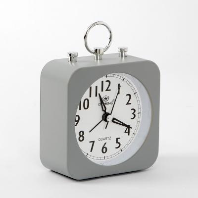 퀴리 사각 알람 탁상시계(그레이)