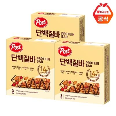 포스트 단백질바 150g 3개