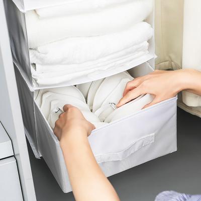 걸이식 패브릭 속옷 옷 수납 다용도 박스 정리함 서랍