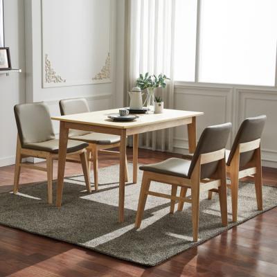 유럽형 고무나무 4인식탁+의자 세트 FN701-6
