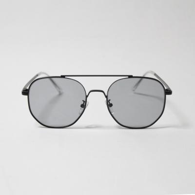 남녀공용 육각 보잉 메탈 선글라스 (무광 블랙)