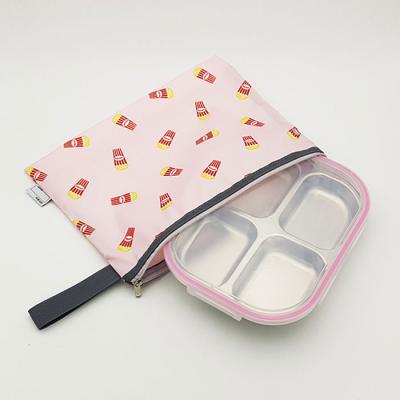 팝콘 나눔4구식판 핑크 뚜껑 파우치포함 CH1484549