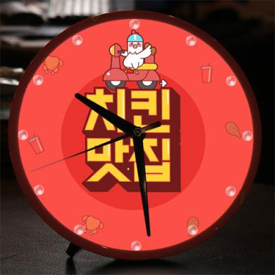 ng573-LED시계액자25R_치킨맛집