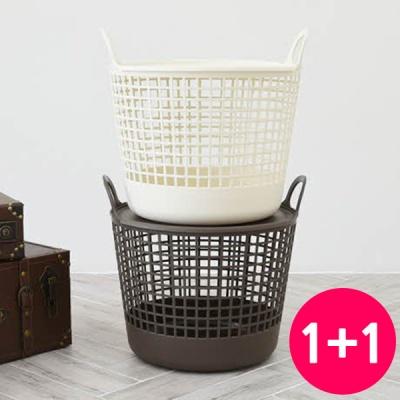 [무료배송] 1+1 고급스러운 소프트 바스켓 베이지(소)