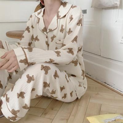 큐트 곰돌이 요루면 파자마 잠옷 홈웨어