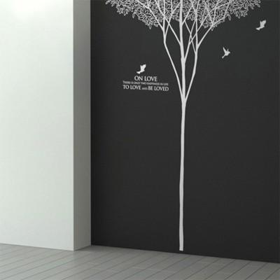 숲이야기(나무1그루) (반제품A)  그래픽스티커 포인트 시트지 인테리어 스티커