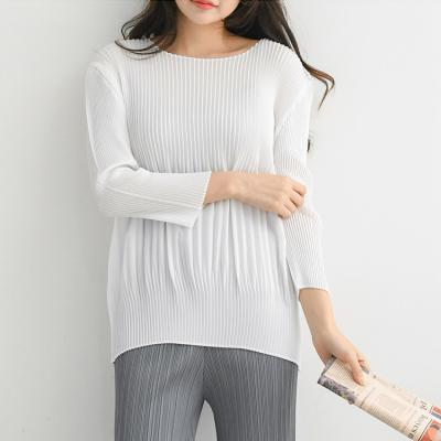 Pleats Coccon Top - 긴팔