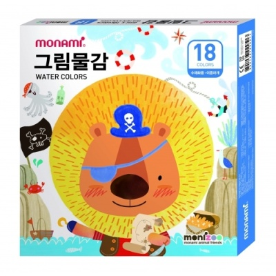 [모나미] 모니주물감18색6ml 남 [세트/1] 364848