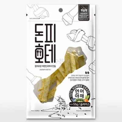 펫슐랭 돈피호테-연어야채 슬라이스 55g X 2개 (sj)